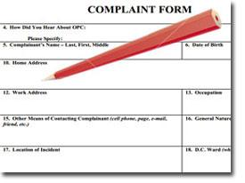 graphic of complaint form and pencil