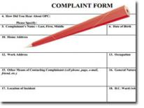 graphic of a complaint form and pencil